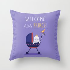 Welcome little prince! Throw Pillow