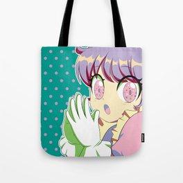 Kawaii magical girl// Mint green pattern pink spots Tote Bag