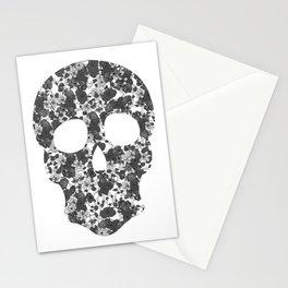 Black and White, Flower Skull Stationery Cards