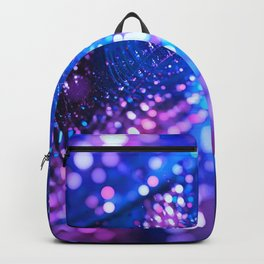 Blue & Violet Glitter Abstracts Backpack
