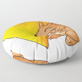 Big Yellow Roo Heart Floor Pillow