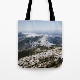 Cannon Mountain from Mt. Lafayette Tote Bag
