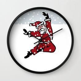 Dancing Santa - 8 Wall Clock