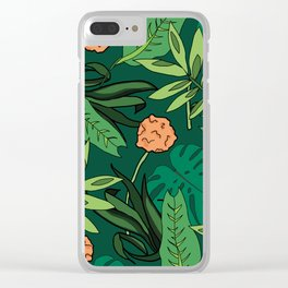 Deep In The Jungle... Clear iPhone Case