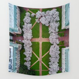 UW Cherry Blossoms: Spring Wall Tapestry
