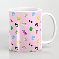 90s Mugs featuring 90s Stuff Print by MagicCircle