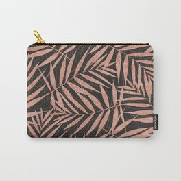 Elegant rose gold Tropical leaves Carry-All Pouch