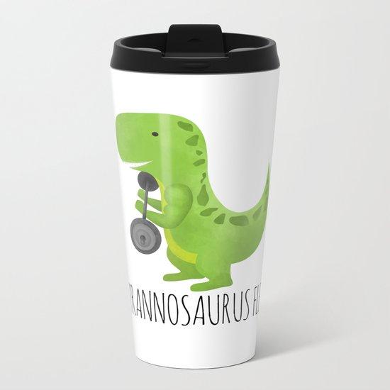 Tyrannosaurus Flex Metal Travel Mug