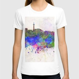 Kyoto skyline in watercolor background T-shirt