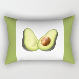 'ave an Avo | White/Green Rectangular Pillow