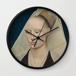 Portrait of a Lady by Rogier van der Weyden Wall Clock