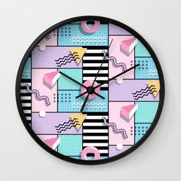 Memphis Party Wall Clock