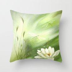 flowers pastel green Throw Pillow
