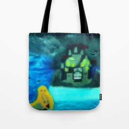 Mermaid In Thunderstorm Tote Bag