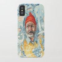 life aquatic iPhone & iPod Cases featuring AQUATIC by busymockingbird