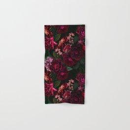 Vintage & Shabby Chic - Night Botanical Flower Roses Garden Hand & Bath Towel