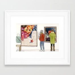 Paintings in a Museum Framed Art Print