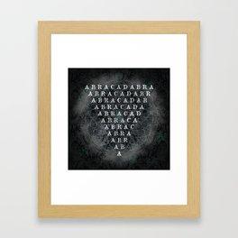 Abracadabra Reversed Pyramid in Charcoal Black Framed Art Print