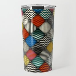 buttoned patches Travel Mug