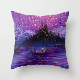The Lantern Scene Throw Pillow