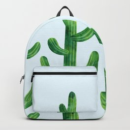 Cyan blue - field of cacti Backpack