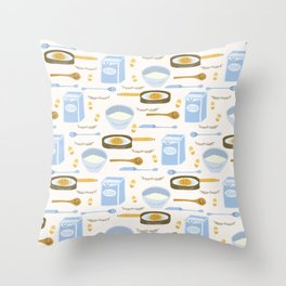 Cute vector pancake day breakfast recipe llustration Throw Pillow
