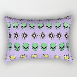 Alien hieroglyph Rectangular Pillow