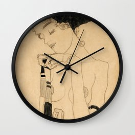 "Egon Schiele ""Standing Girl"" Wall Clock"