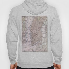 Vintage Map of New York City (1884)  Hoody