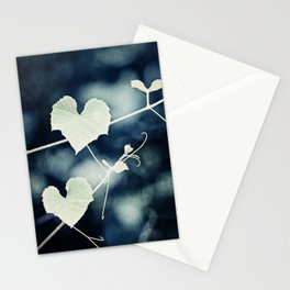 Heart Love Nature Photography, Hearts Botanical Print, Navy Blue Green Photograph, Bedroom Photo Stationery Cards