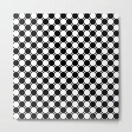 Checkered Illusion Metal Print