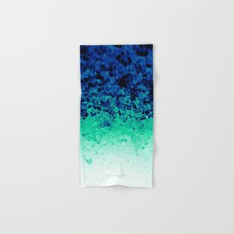 Midnight Teal Ombre Crystals Hand & Bath Towel