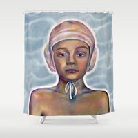 boy Shower Curtains featuring Boy by Laura O'Connor