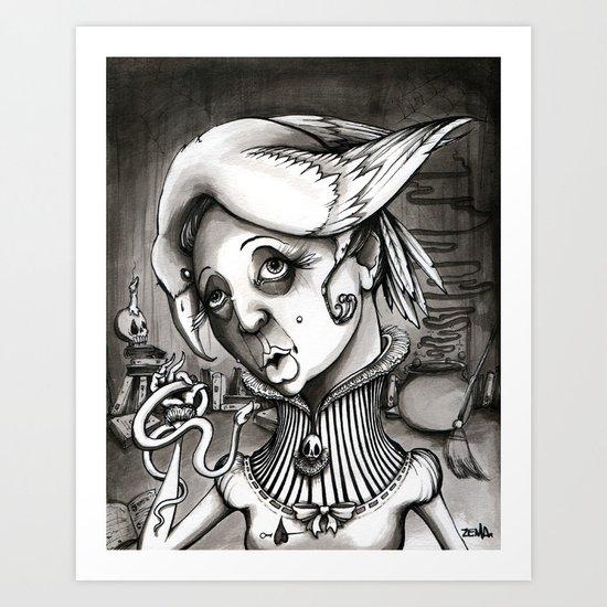 Lady Heartwood Art Print