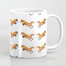 Foxy Jump Pattern Coffee Mug
