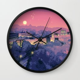 Pixel City 3 Wall Clock
