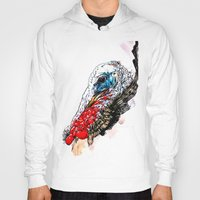 turkey Hoodies featuring Jive Turkey by Stacey Johnson Illustration