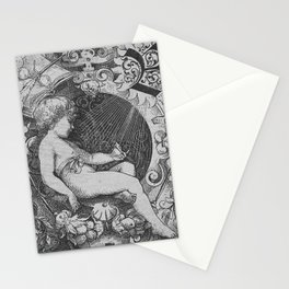 Cherub | Angels Vintage | Victorian | Sketch | Letter B Stationery Cards