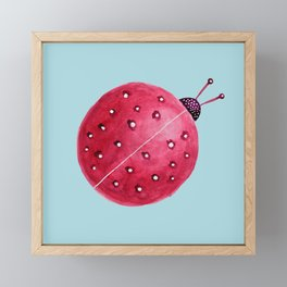 Spherical Abstract Watercolor Ladybug Framed Mini Art Print