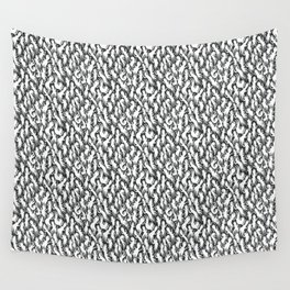 White Ghostly Pattern Wall Tapestry