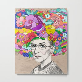 Notorious RBG Metal Print
