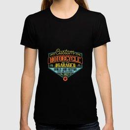 Retro Motorcycle Garage Sign T-shirt