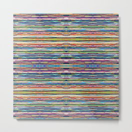 Abstract Multi-coloured Stripes 626 Metal Print
