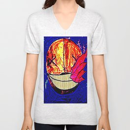 The Moon Is Sick Unisex V-Neck