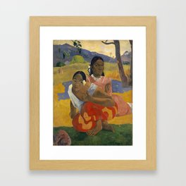 Paul Gauguin -  Nafea Faa Ipoipo (When Will You Marry?) Framed Art Print