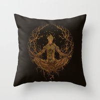 groot Throw Pillows featuring Groot Mandala by Megmcmuffins