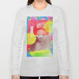 Sitted Woman with Flowers Long Sleeve T-shirt