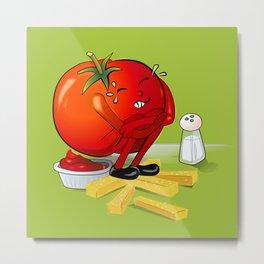 Tomato make Ketchup Metal Print