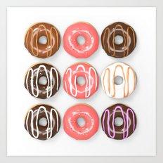 So Many Donuts Art Print