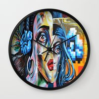 madonna Wall Clocks featuring Madonna by Tami Cudahy